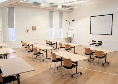Simister Hall in classroom layout