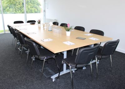 Willow Room in boardroom layout